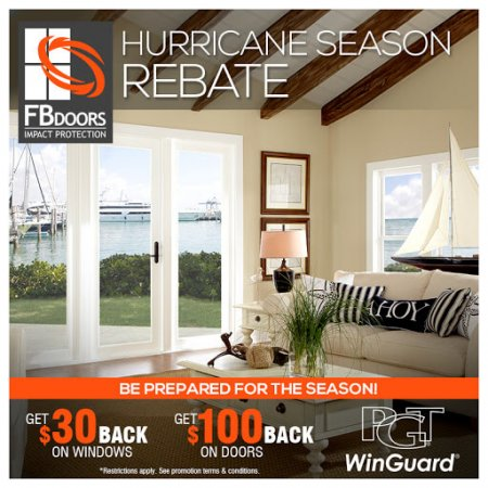 FB Doors Hurricane Season Rebate 2018