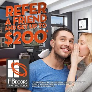 FB Doors - Refer a Friend and get up to $200