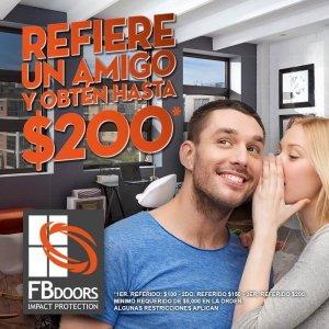 FB Doors - Refiere un amigo y obten hasta $200
