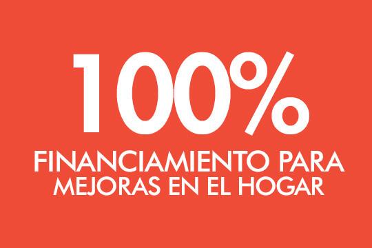 100% Financiamiento para mejoras en el Hogar
