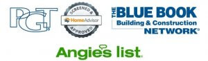 Logos - PGT, Home Advisor, The Blue Book Network, Angie's List