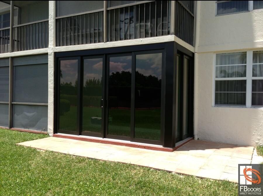 how to enclose a balcony Custom Enclosed Balcony FB Doors Impact Windows In Florida