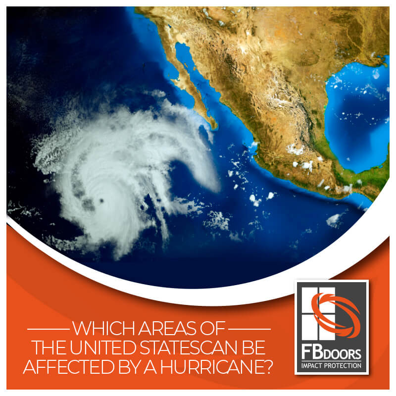 Areas affected by hurricane