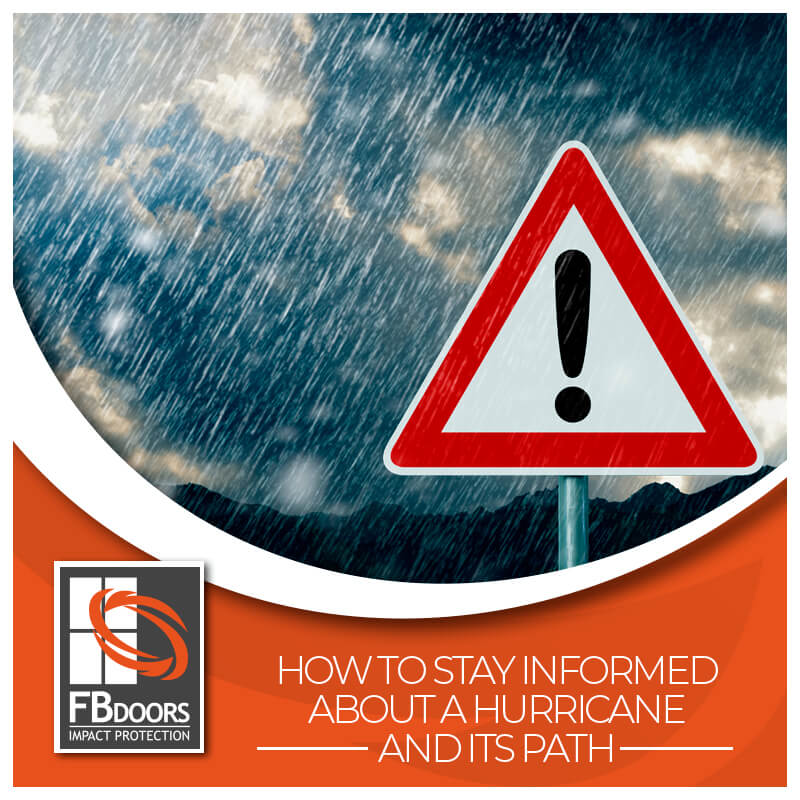 Informed about hurricane