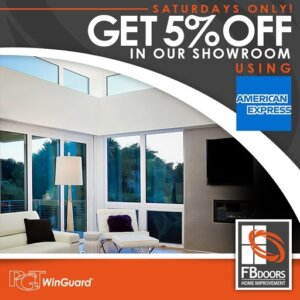 Get 5% off in our showroom using American Express